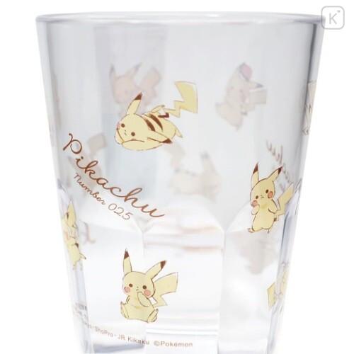Japan Pokemon Acrylic Clear Tumbler - Pikachu - 2