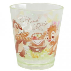 Japan Disney Acrylic Cup Clear Airy - Chip & Dale