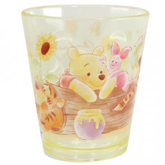 Japan Disney Acrylic Cup Clear Airy - Winnie The Pooh , Piglet & Tigger