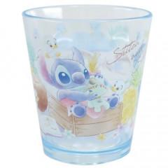 Japan Disney Acrylic Cup Clear Airy - Stitch & Scrump