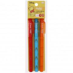 Japan Disney FriXion Fineliner Erasable Pen 3pcs Set - Pooh & Friends