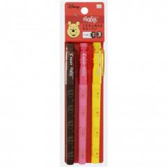 Japan Disney FriXion Fineliner Erasable Pen 3pcs Set - Pooh & Piglet
