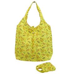 Japan Pokemon Eco Shopping Bag with Mini Bag - Pikachu All Around / Yellow
