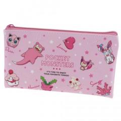 Japan Pokemon Flat Pouch - Colors Pink
