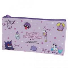 Japan Pokemon Flat Pouch - Colors Purple