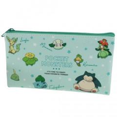 Japan Pokemon Flat Pouch - Colors Green