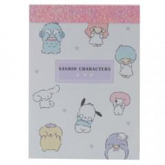 Japan Sanrio B8 Mini Notepad - Sanrio Family / See No Evil
