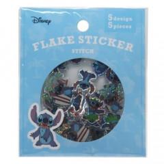Japan Disney Masking Seal Flake Sticker - Stitch Glitter Haloha
