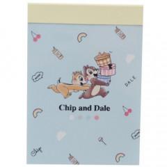 Japan Disney B8 Mini Notepad - Chip & Dale Chill
