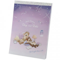 Japan Disney A6 Notepad - Chip & Dale Star Night