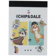 Japan Disney B8 Mini Notepad - Chip & Dale Outgoing