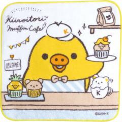 Japan San-X Handkerchief Petit Towel - Kiiroitori Muffin Cafe A