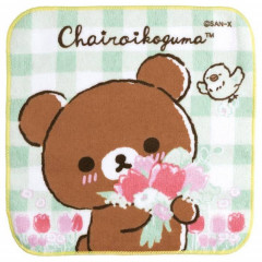 Japan San-X Handkerchief Petit Towel - Friends of Chairoikoguma 5th Anniversary A