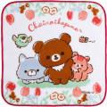 Japan San-X Handkerchief Petit Towel - Friends of Chairoikoguma 5th Anniversary B - 1