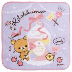 Japan San-X Handkerchief Petit Towel - Rilakkuma / Sweet Dessert