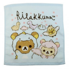 Japan San-X Handkerchief Wash Towel - Rilakkuma / Dinosaur