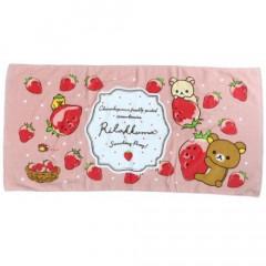 Japan San-X Bath Towel - Rilakkuma / Strawberry Party