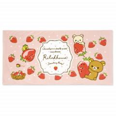 Japan San-X Large Bath Towel - Rilakkuma / Strawberry Party