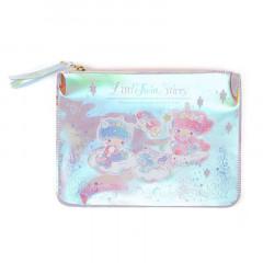 Japan Sanrio Flat Pouch - Little Twin Stars / Aurora Unicorn