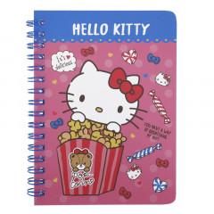 Sanrio A6 Twin Ring Notebook - Hello Kitty / Popcorn