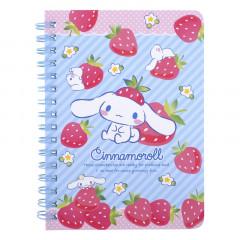 Sanrio A6 Twin Ring Notebook - Cinnamoroll / Strawberry