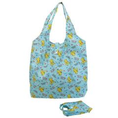 Japan Pokemon Eco Shopping Bag with Mini Bag - Pikachu All Around / Blue