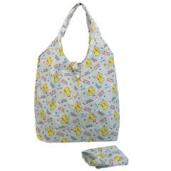 Japan Pokemon Eco Shopping Bag with Mini Bag - Pikachu All Around / Gray