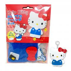 Japan Sanrio Keychain Plush Sewing Kit - Hello Kitty