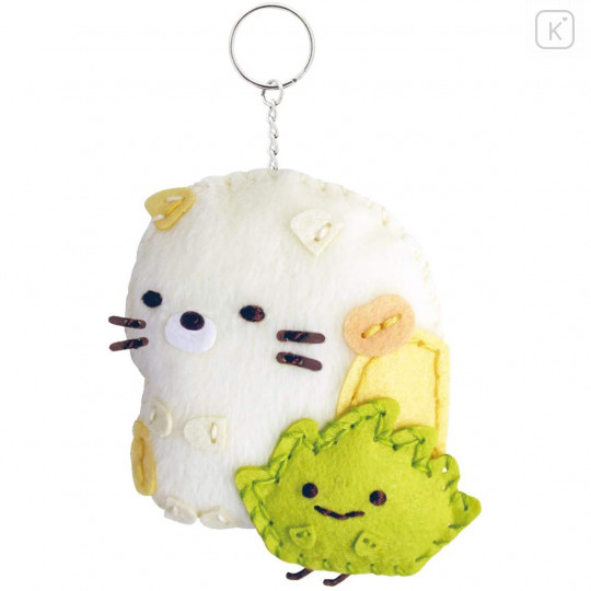 Japan San-X Sumikko Gurashi Keychain Plush Sewing Kit - Neko Cat & Zassou - 3
