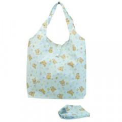 Japan San-X Foldable Eco Shopping Bag - Rilakkuma / Light Blue