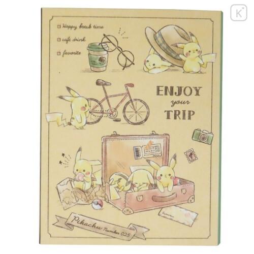 Japan Pokemon Sticky Notes - Pikachu Travel - 1