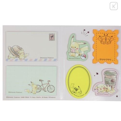 Japan Pokemon Sticky Notes - Pikachu Travel - 3