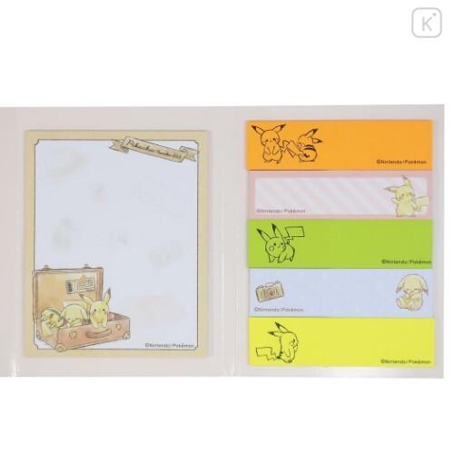 Japan Pokemon Sticky Notes - Pikachu Travel - 4