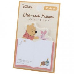 Japan Disney Die-cut Fusen Sticky Notes - Pooh & Piglet