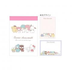 Japan Sanrio B8 Mini Notepad - Sanrio Family / Line up
