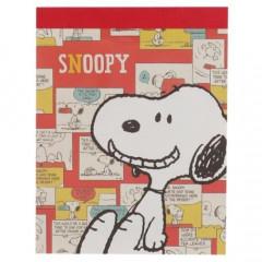Japan Peanuts B8 Mini Notepad - Snoopy / Red Comic