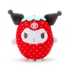 Japan Sanrio Fruit Mini Plush - Kuromi / Strawberry