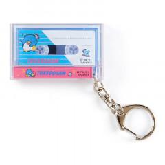 Japan Sanrio Mini Cassette Keychain - Tuxedosam