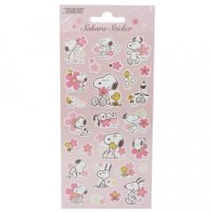 Japan Peanuts Sakura Sticker - Snoopy