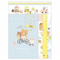 Japan San-X Letter Envelope Set - Rilakkuma / Marche