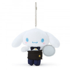 Japan Sanrio Keychain Plush - Cinnamoroll / Cafe