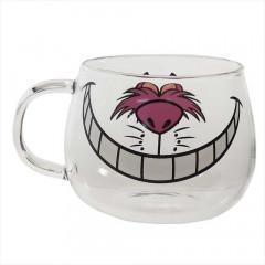 Japan Disney Glasses Mug - Cheshire Cat