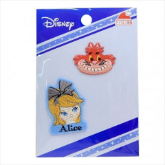 Japan Disney Embroidery Iron-on Applique Patch - Alice & Cheshire Cat