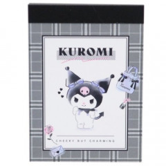 Japan Sanrio Mini Notepad - Kuromi / Cheeky but Charming