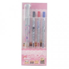 Japan Pui Pui Molcar Style Fit 3 Color Multi Ball Pen - Silver