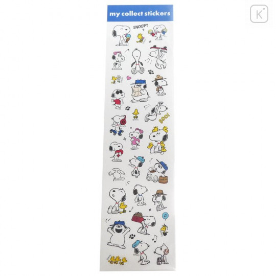 Japan Peanuts My Collect Sticker - Snoopy & Family - 1