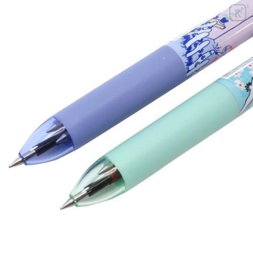 Japan Moomin FriXion Erasable 3 Color Multi Gel Pen - Mint Green - 3