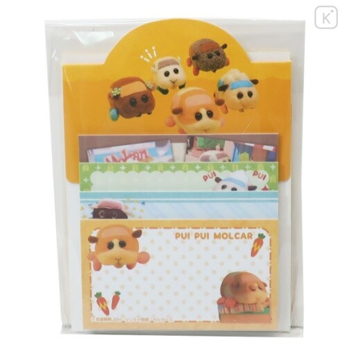 Japan Pui Pui Molcar Sticky Notes with Stand A - 1