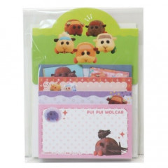 Japan Pui Pui Molcar Sticky Notes with Stand B