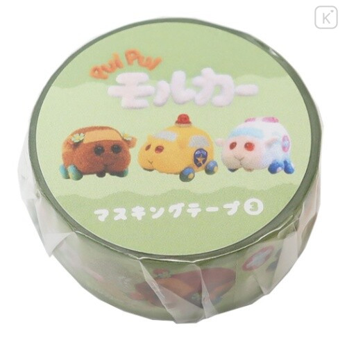 Japan Pui Pui Molcar Washi Paper Masking Tape - Choco & Emergency Molker & Pat Molker - 1